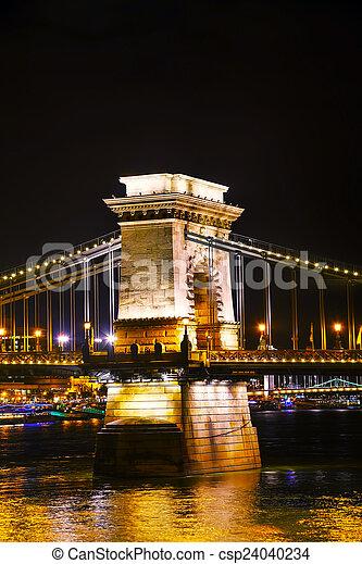 The Szechenyi Chain Bridge in Budapest - csp24040234