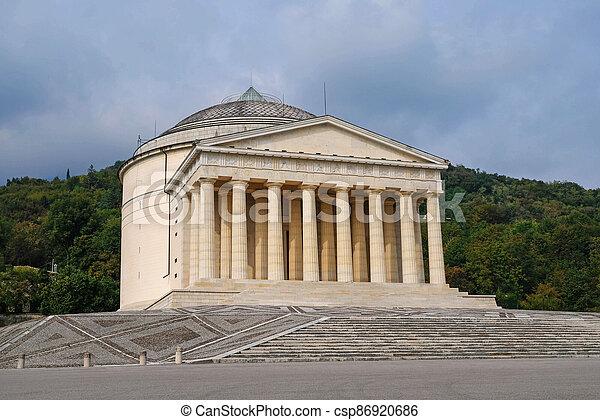 The Tempio Canoviano or Temple of Canova, Roman Catholic parish church. - csp86920686