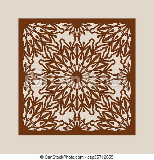 The template pattern for laser cutting decorative panel. Floral ...
