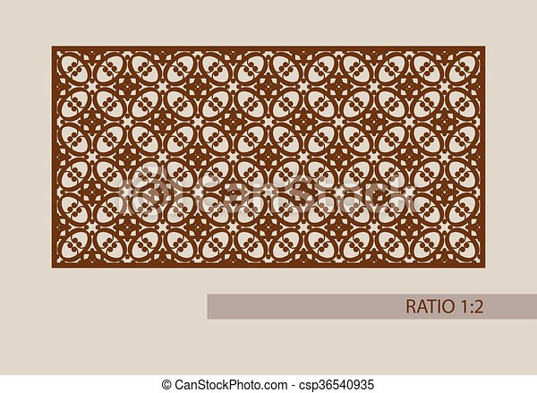 The template pattern for laser cutting decorative panel. Geometric ...