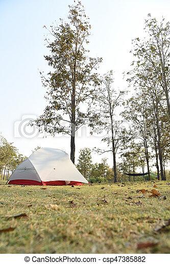 the tent at natural park, Thailand - csp47385882