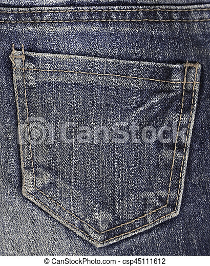 The texture of denim pocket - csp45111612