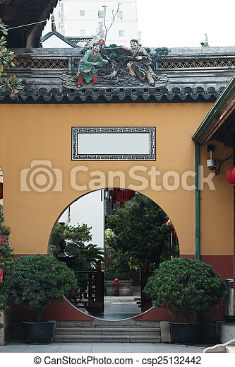 the The Jade Buddha Temple Shanghai China - csp25132442