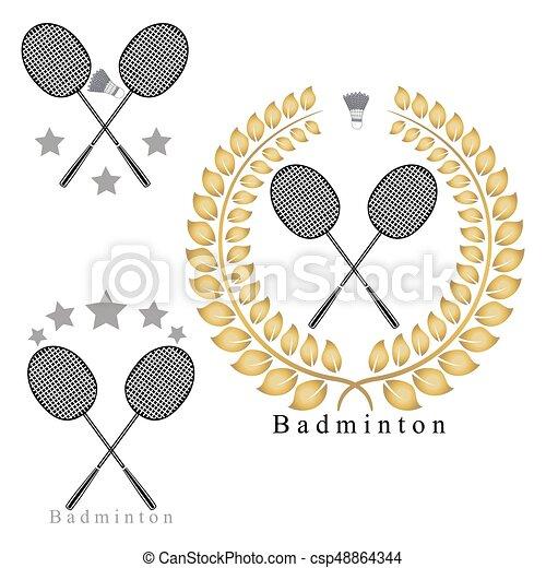 The theme badminton - csp48864344