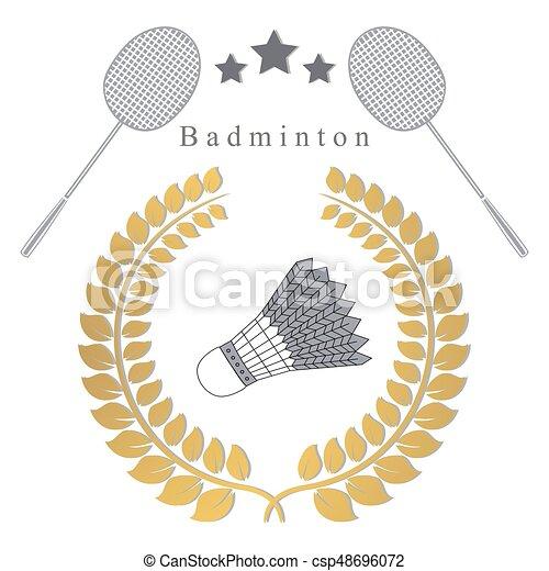 The theme badminton - csp48696072