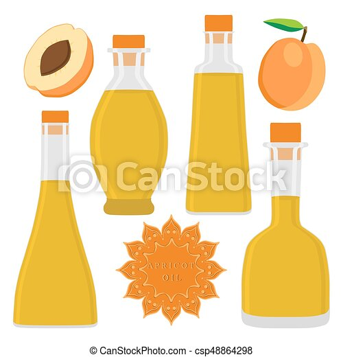 The theme bottles oil - csp48864298