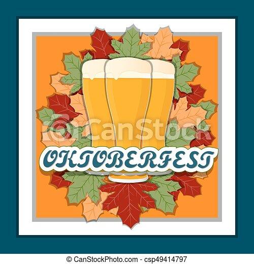 The theme Oktoberfest - csp49414797