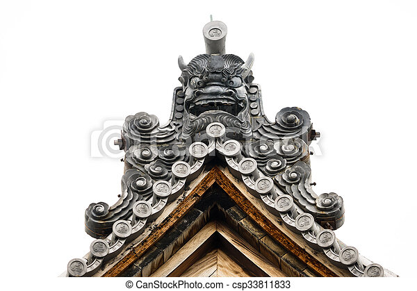 The top roof detail of Japanese temple - csp33811833