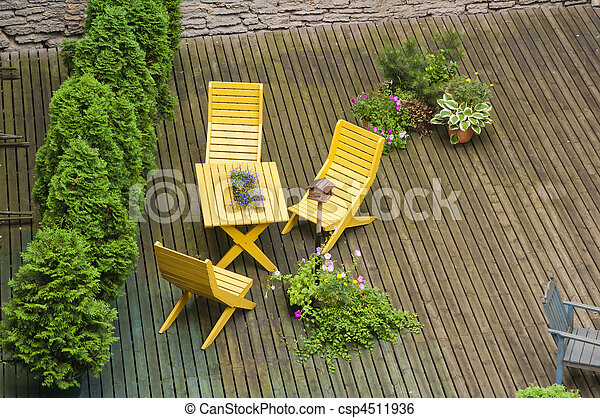 Stock image of the top view on a terrace csp4511936 for The terrace top