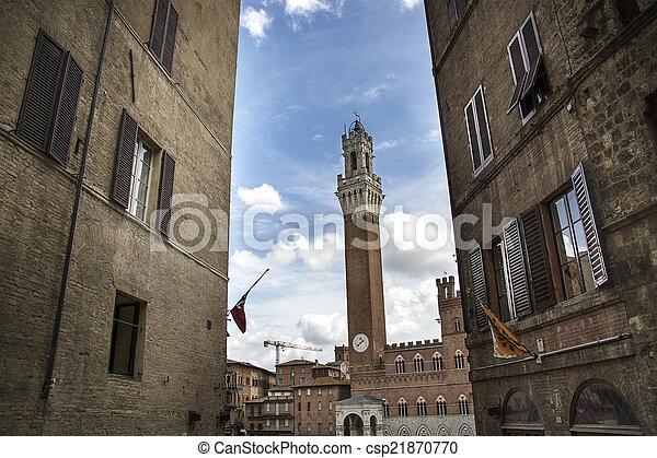 The Torre del Mangia, Siena - csp21870770