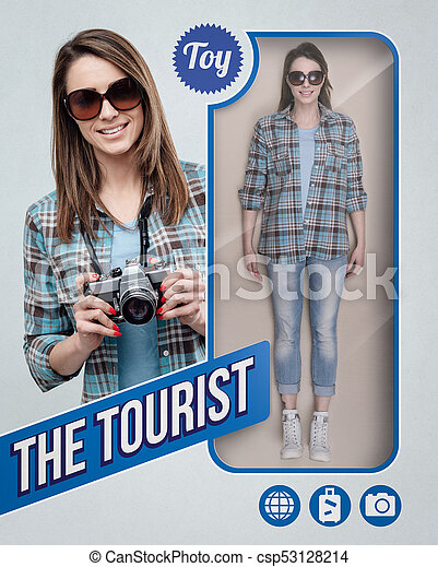 The tourist realistic doll - csp53128214