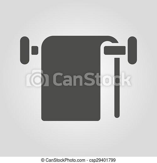 The Towel Icon Bathroom Symbol Flat Vector Illustration Awesome Bathroom Symbol