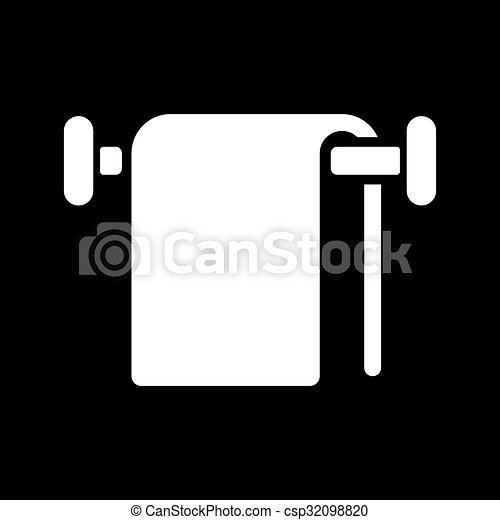 The Towel Icon Bathroom Symbol Flat Vector Illustration Magnificent Bathroom Symbol