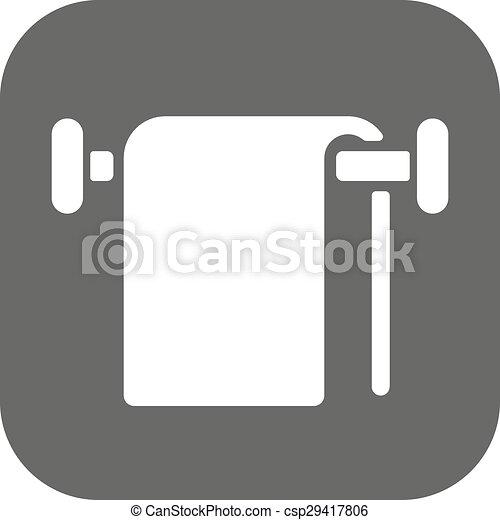The Towel Icon Bathroom Symbol Flat Vector Illustration Button