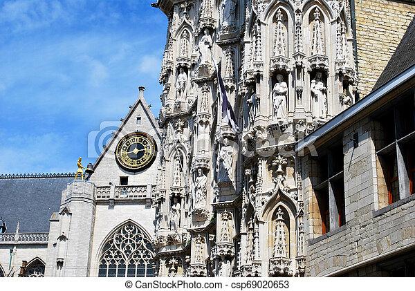 The Town Hall on the Main Market square in Leuven, Flemish Brabant, Belgium - csp69020653