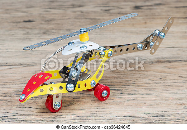 The toy metal helicopter - csp36424645