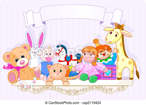 The toy shelf - csp2119424