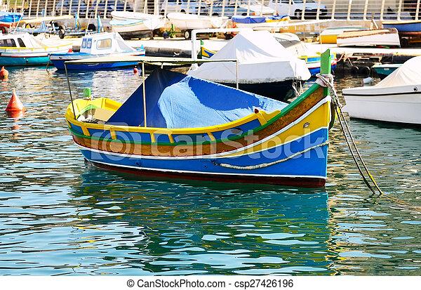 The traditional Maltese Luzzu boat, Malta - csp27426196