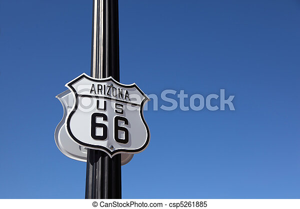 The traffic sign on a metal column, - csp5261885