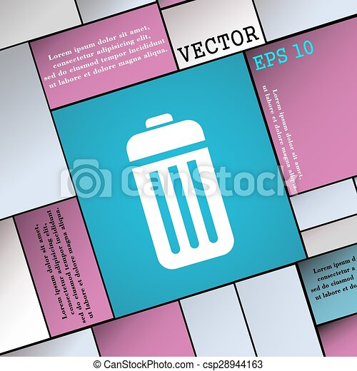 The trash icon sign. Modern flat style for your design. Vector - csp28944163