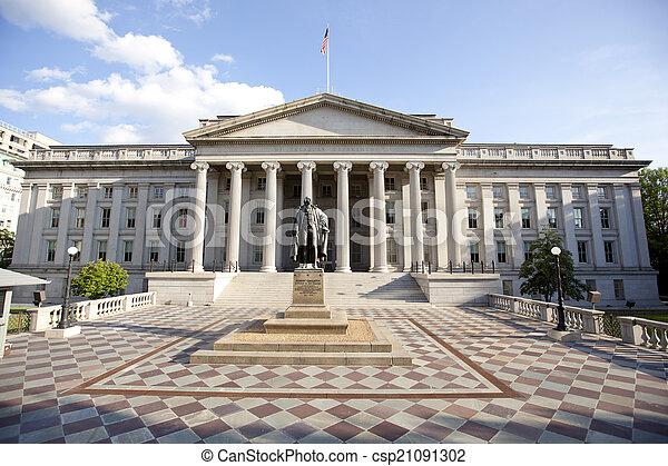 the treasury department building  - csp21091302