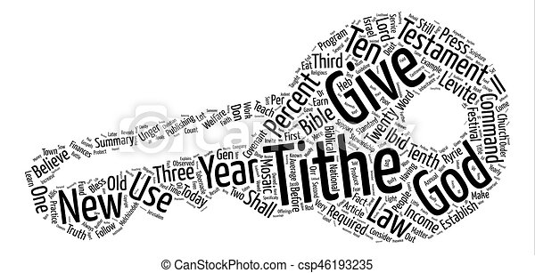 The Truth About The Tithe text background word cloud concept - csp46193235
