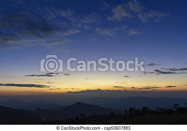 The twilight sky - csp53607883