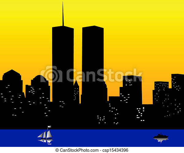 the twin towers in the united states of america the twin eps rh canstockphoto ca twin towers collapse clipart twin towers collapse clipart