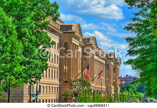 The United States Department of Commerce in Washington, D.C. - csp49968411