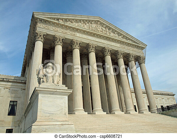 The United States Supreme Court in Washington DC - csp6608721