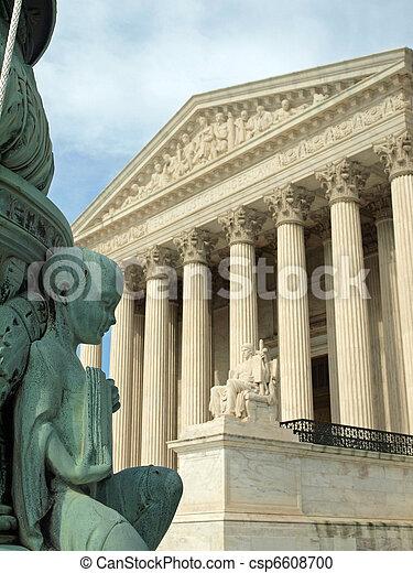 The United States Supreme Court in Washington DC - csp6608700
