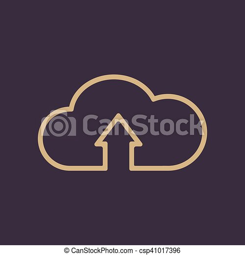 The upload to cloud icon. Download symbol. Flat - csp41017396