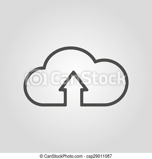 The upload to cloud icon. Download symbol. Flat - csp29011087