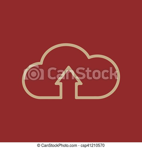 The upload to cloud icon. Download symbol. Flat - csp41210570