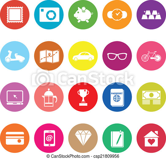 The useful collection flat icons on white background - csp21809956