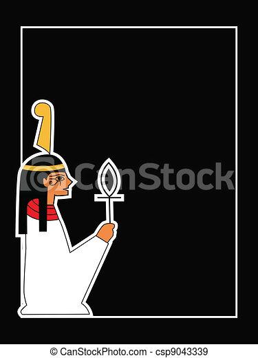 the vector egyptian god - csp9043339
