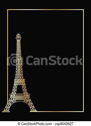 the vector eiffel tower eps 8 - csp9043627