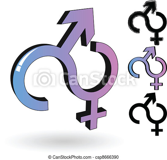 The Vector Male And Female Symbol Vector Clipart Search