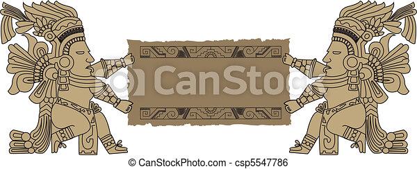 the vector mayan and inca tribal - csp5547786