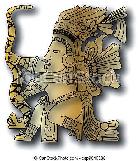 the vector mayan and inca tribal - csp9046836