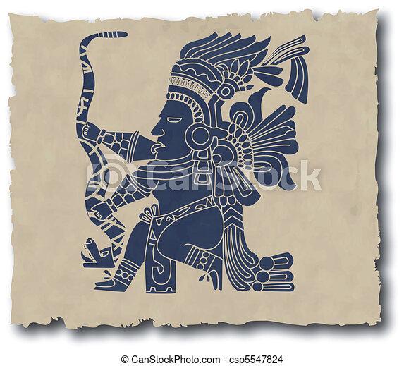 the vector mayan and inca tribal - csp5547824