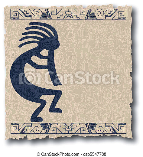 the vector mayan and inca tribal on old paper - csp5547788