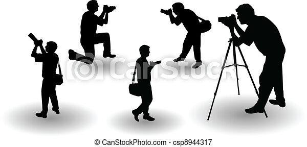 the vector Photographer's silhouette - csp8944317