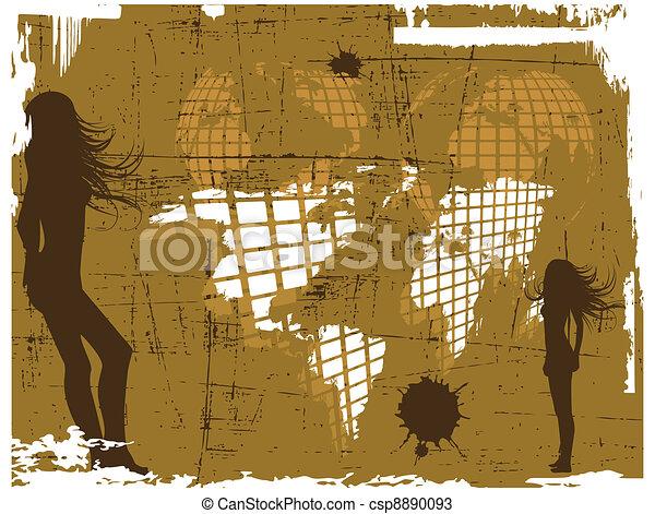 The vector retro grunge world map the vector retro grunge world map gumiabroncs Images