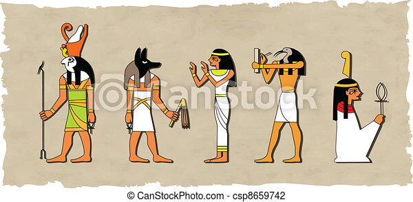 the vector set of egyptian god - csp8659742