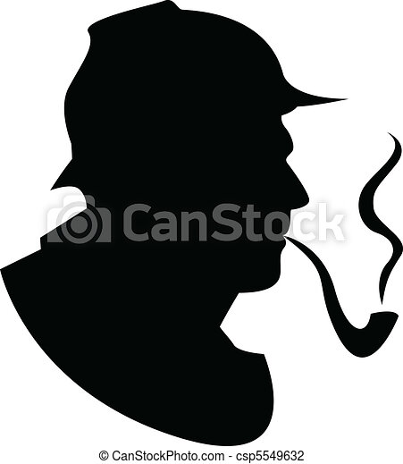 the vector silhouette pipe smoker - csp5549632