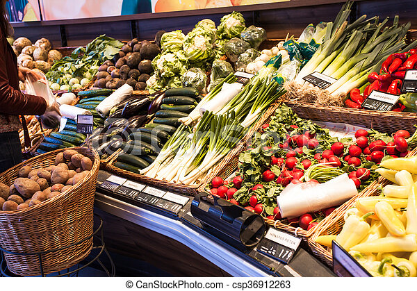 The vegetables market - csp36912263