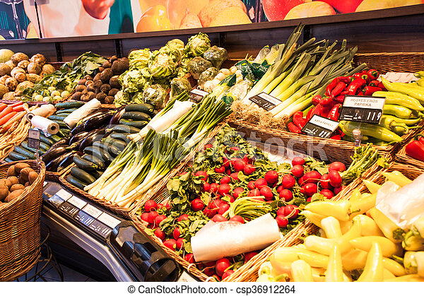 The vegetables market - csp36912264