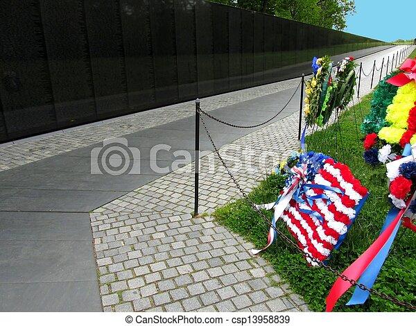 the vietnam wall memorial - csp13958839