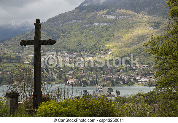 The view of Annecy lake - csp43258611